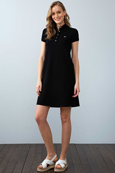 Siyah Kadin Örme Elbise