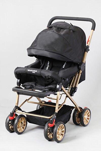 Siyah Gold Berre Ergonomik Bebek Arabası