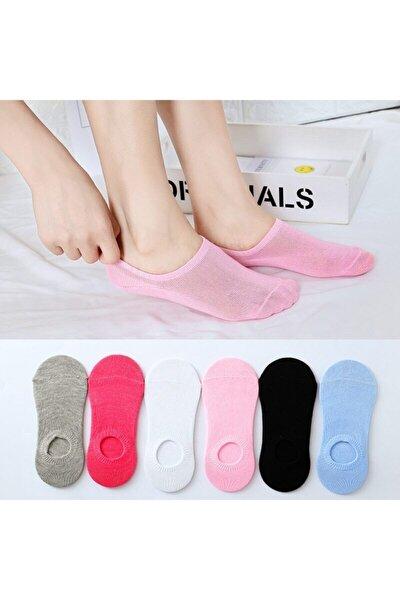 6' Lı Paket Kadın Çok Renkli Bambu Bambu Görünmez (sneaker) Spor Ayakkabı Çorabı