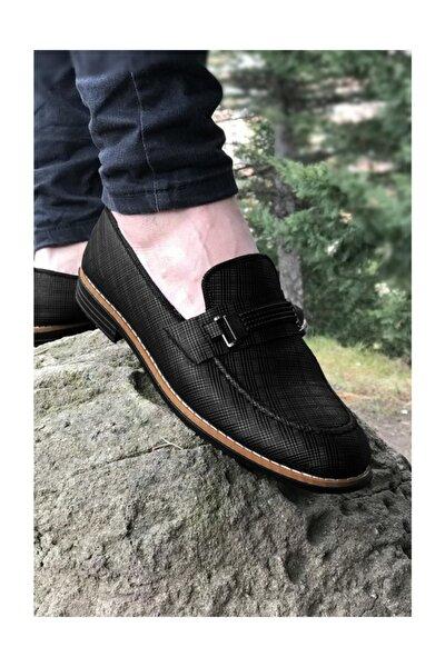 Erkek Siyah Ortopedik Günlük Ayakkabı