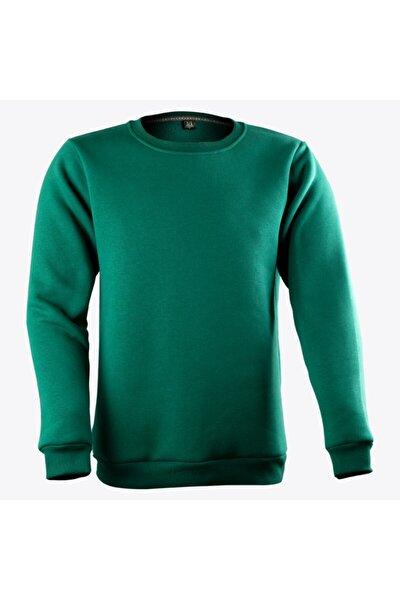 Sıfır Yaka Yeşil Sweatshirt
