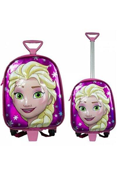 Çocuk Çekçekli Okul Çantası Elsa