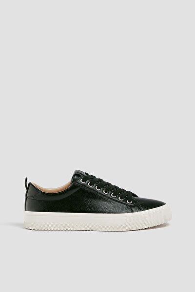 Kadın Siyah Kontrast Tabanlı Spor Ayakkabı 11210640