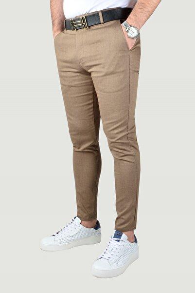 Erkek Kahverengi Keten Pantolon 9y-2200189-015
