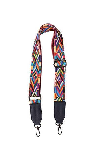 Kadın Ayarlanabilir Renkli Kolon Çanta Askısı