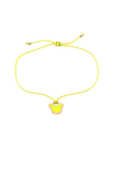 Sarı Neon Micky Ipli Gümüş Halhal