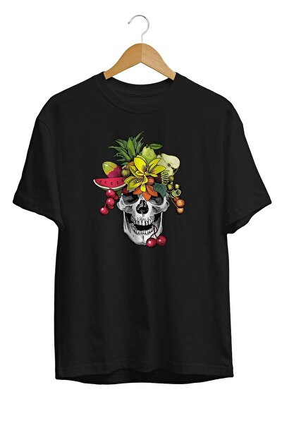 Unisex Siyah Baskılı T Shirt