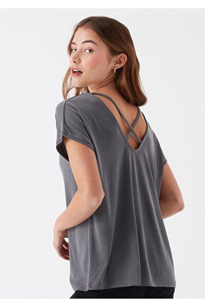 Kadın Gri Modal Tişört