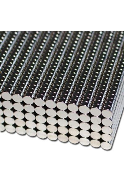 Yuvarlak Güçlü Neodyum Mıknatıs 100 Adet Çap 4 mm X Kalınlık 2 mm