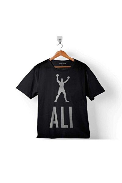 Erkek Siyah Muhammed Muhammad Ali Smıle Boks Boksör 2 Çocuk Tişört