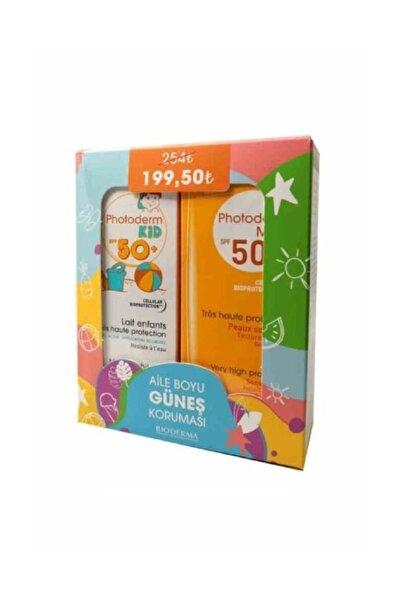 Unisex Çocuk Photoderm Aile Boyu Güneş Koruması Set - Max Lait Spf50 100 Ml + Kid 100 Ml