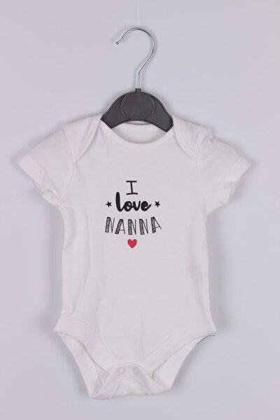 Bebek Beyaz Kısa Kollu Body