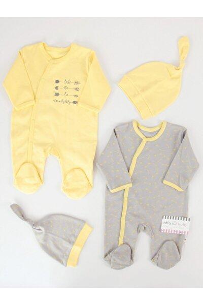 Kız Bebek Sarı Tulum Takım 4'lü
