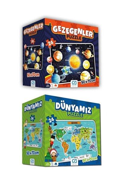 Dünyamız ve Gezegenler Yer Puzzle Seti