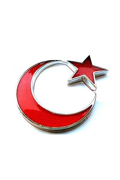 KırmızıTürk Bayrağı Reflektörlü Arma