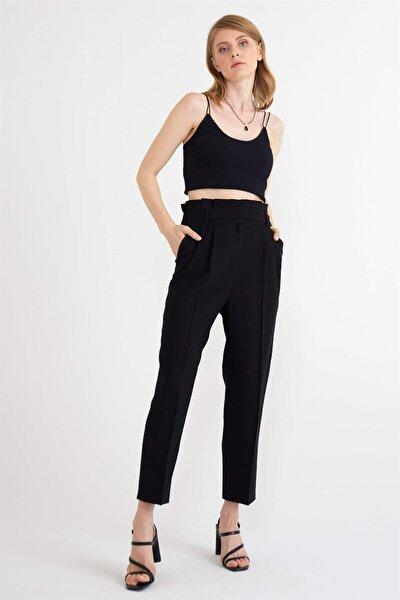 Kadın Siyah Biritli Pantolon