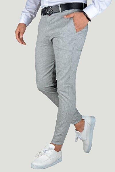 Erkek Gri Keten Pantolon 9Y-2200203-007 Gri