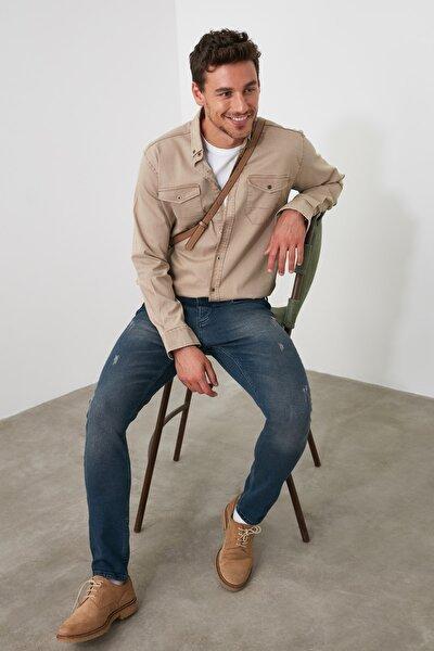 Indigo Erkek Tırmık Yıpratmalı Skinny Jeans TMNAW20JE0251
