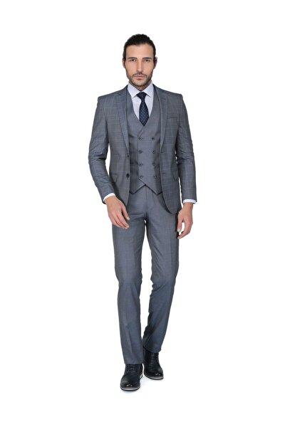 Erkek Mesina Ek Mono Yelekli Dar Kalıp Takım Elbise -3B8M0434D025