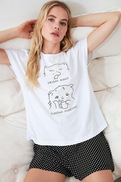 Antrasit Baskılı Pijama Takımı THMSS20PT0099
