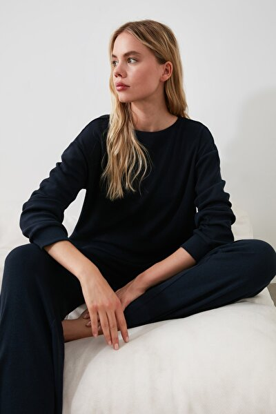 Lacivert Kaşkorse Pijama Takımı THMAW21PT0009