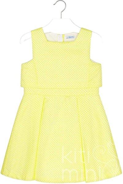 Kız Çocuk Sarı Jakarlı Elbise