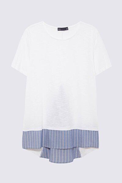 Kadın Beyaz Çift Katlı Bluz T41004380X