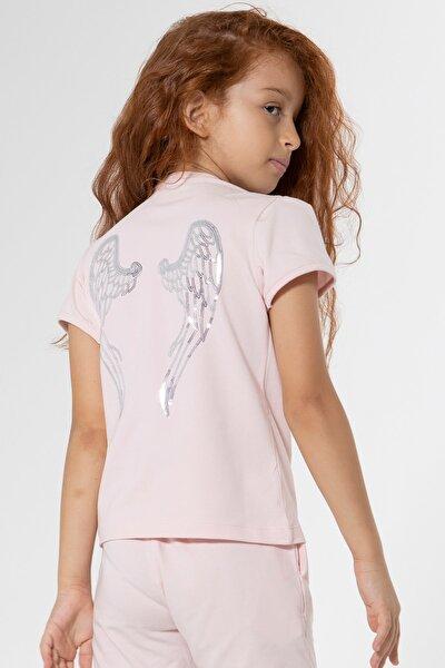Melek Kanatlı Tshirt Angel Pembe