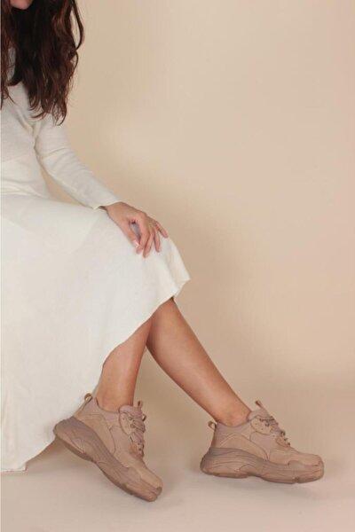Kadın Bej Nude Spor Ayakkabı Y5623