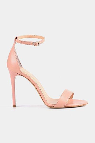 Pudra Kadın Topuklu Sandalet