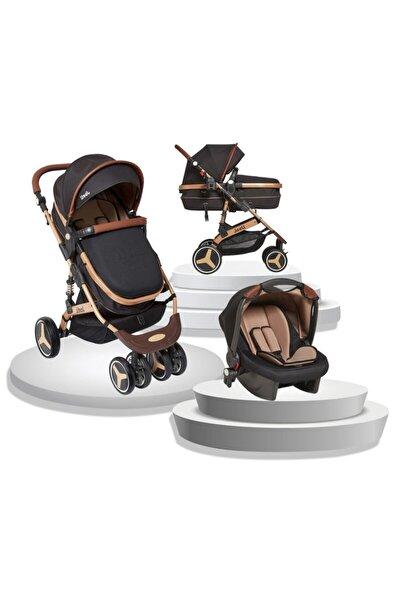Siyah Truva Travel Sistem Bebek Arabası