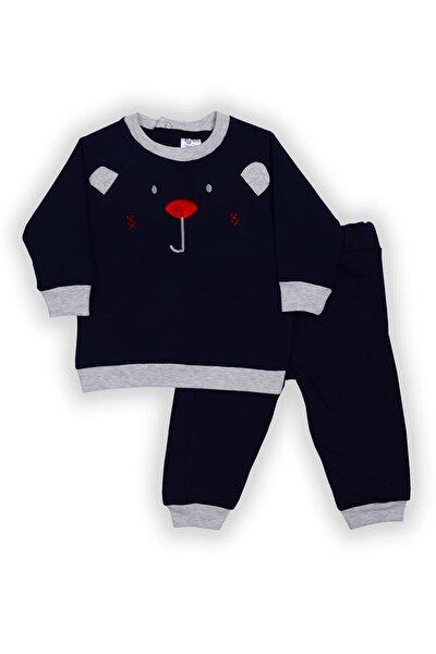 Pierre Cardin Ayı Figürlü Bebek Takımı Lacivert-gri