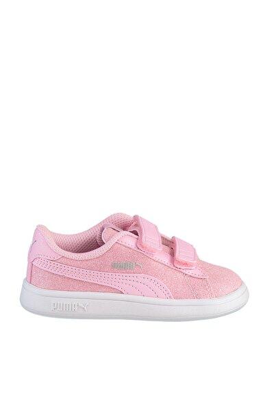 Kız Çocuk Pembe Puma Smash v2 Glitz Glam V Inf Pale Pink Sneaker
