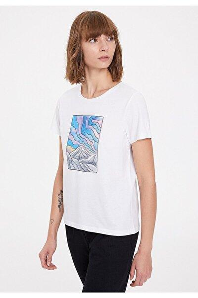 Kadın Beyaz Night Tshirt