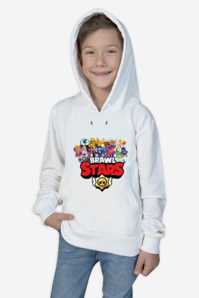 Çocuk Beyaz Sweatshirt