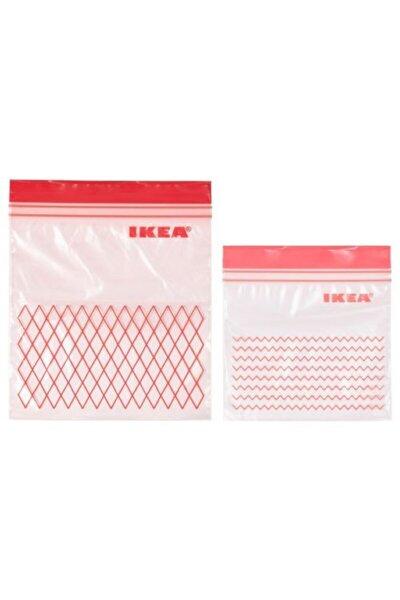 Istad Kilitli Buzdolabı Poşeti Ikea 60 Adet Kırmızı
