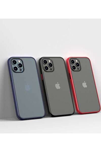Iphone 12 Pro Uyumlu Kılıf Magic Smooth Drop Resistance Case Lacivert