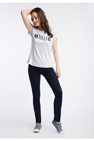 Kadın Klasik Logo T-shirt - Gri