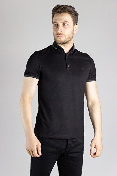Erkek Siyah Polo Yaka T-shirt