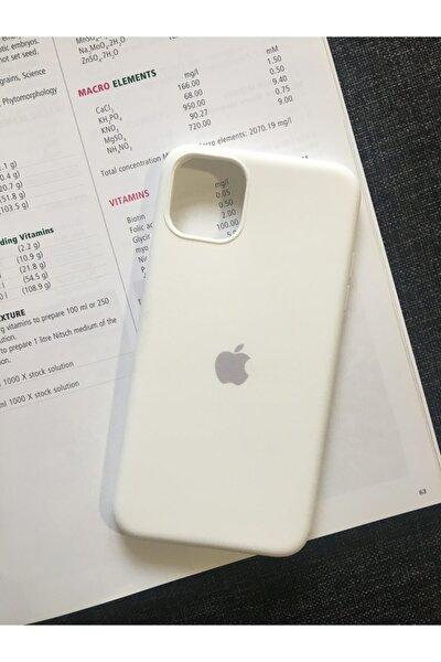 Iphone 11 Pro Max Logolu Lansman Içi Kadife Silikon Kılıf