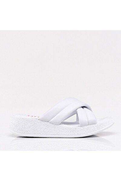 Kadın  Beyaz Yaya Sandalet & Terlik