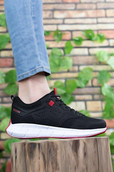 Erkek Siyah Kırmızı Sneaker 0012075