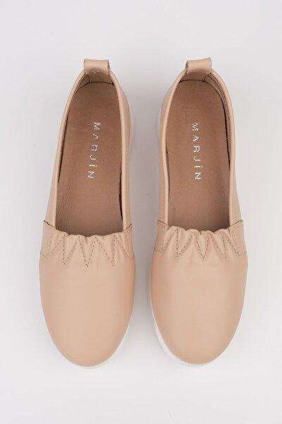 Kadın Vizon Tilev Hakiki Deri  Ayakkabı