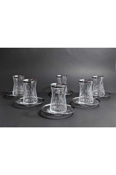 Byart Özel Işlemeli Çay Bardağı Takımı 6 Kişilik 12 Parça