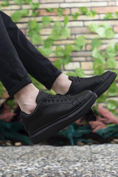 Erkek Siyah Bağcıklı Sneaker 0012366