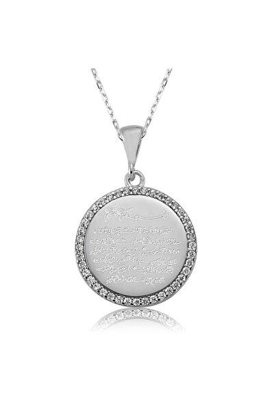Kadın Gümüş Ayetel Kürsi Kolye 1103