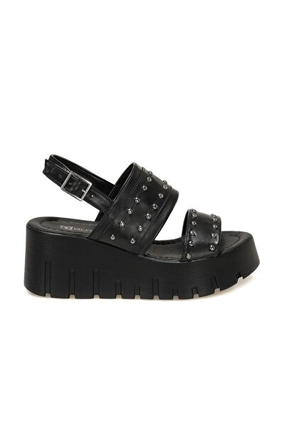 21S-3851FX Siyah Kadın Dolgu Topuklu Sandalet 101014485