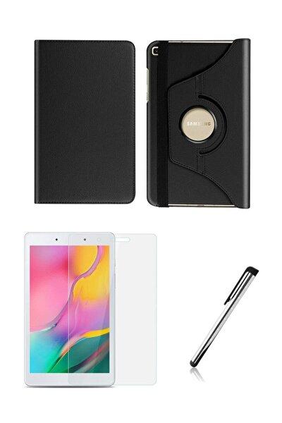 Samsung Galaxy Tab A Sm-t290 Dönerli Tablet Kılıfı Seti 8 Inç Siyah