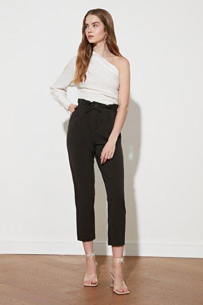 Kahverengi Yüksek Bel Pantolon TWOSS21PL0426