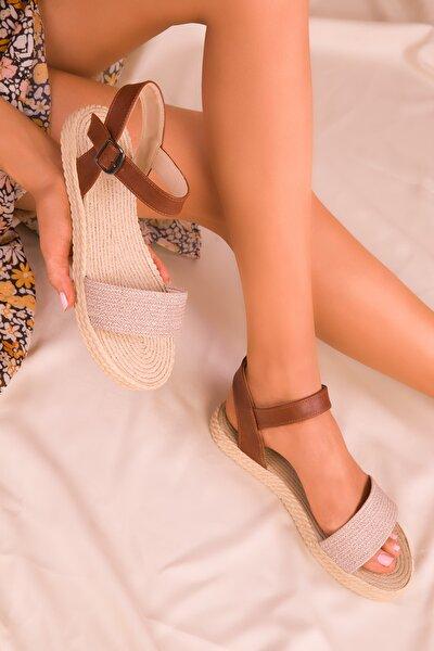 Bej Kadın Sandalet 14662